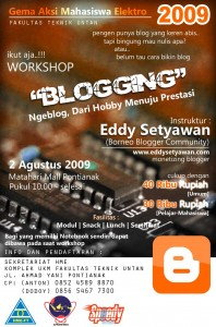 Workshop Blogger